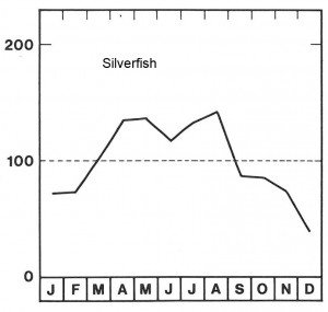 Season for silverfish