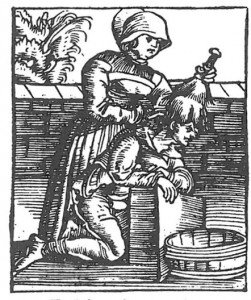 Woodcut of head lice
